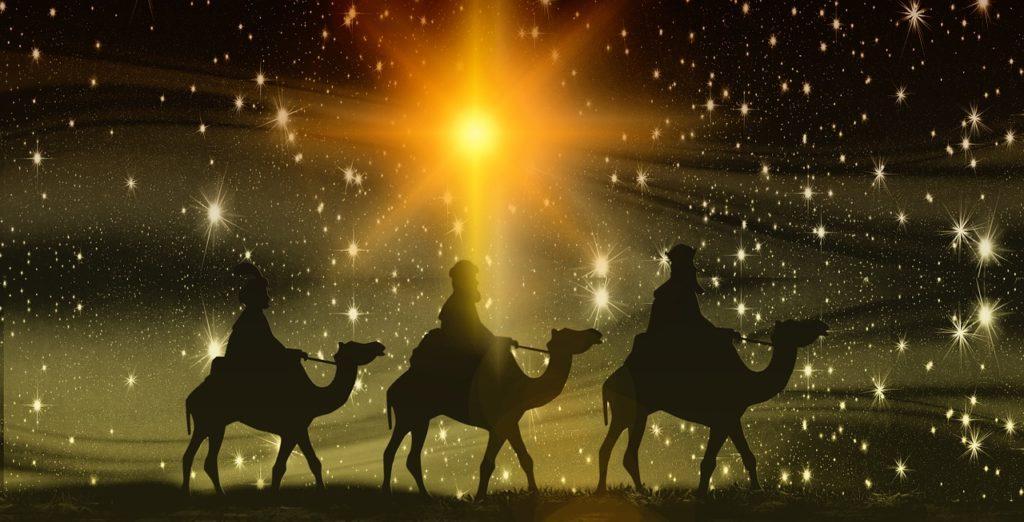 Vianoce Jezisovo narodenie trja krali